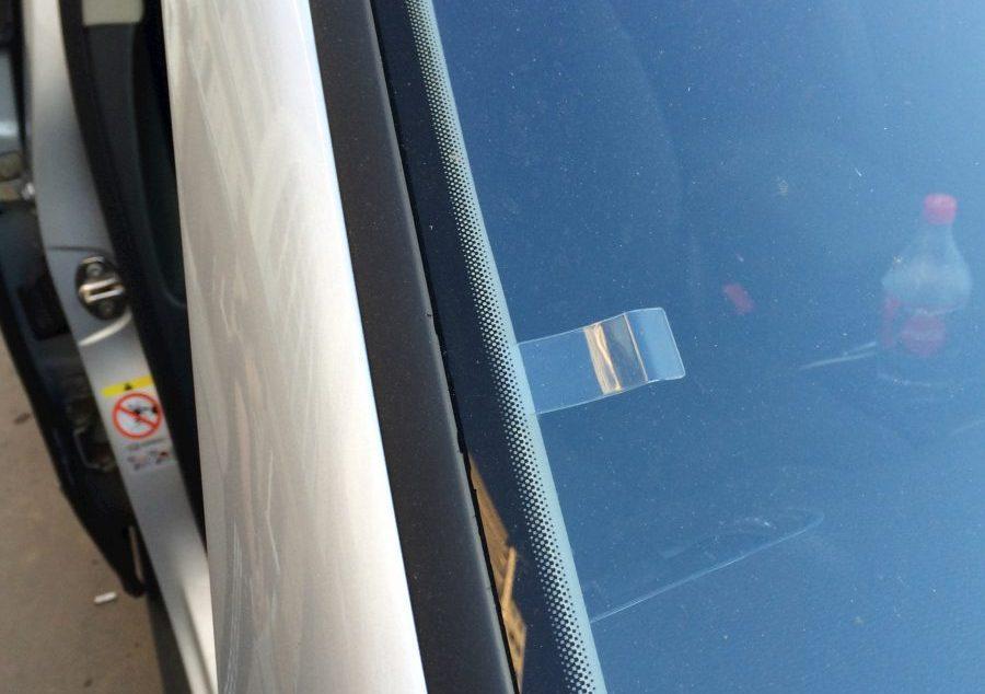 Парковочный талон на передней стойке
