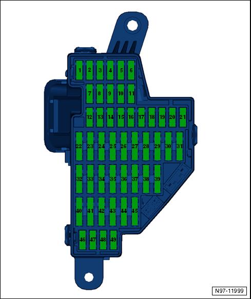 Блок предохранителей C -SC- , передняя панель слева